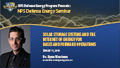 Solar Storage Systems and the Internet of Energy for Bases and Forward Operations