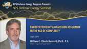 Energy Efficiency and Mission Assurance in the Age of Complexity