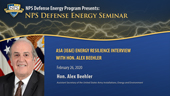 ASA (IE&E) Energy Resilience Interview with Hon. Alex Beehler
