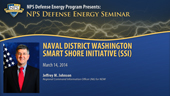 Naval District Washington Smart Shore Initiative (SSI)