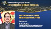 "Fort Hunter Liggett ""Green"" Military Base for the Future"