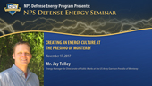 Creating an Energy Culture at the Presidio of Monterey