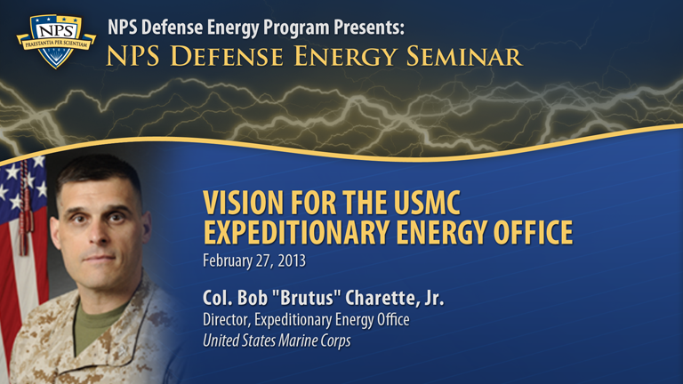 Vision for the USMC Expeditionary Energy Office