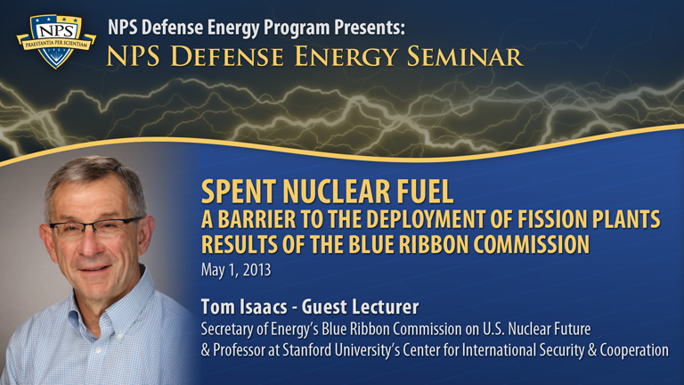 Spent Nuclear Fuel: A Barrier to the Deployment of Fission Plants Results of the Blue Ribbon Commiss