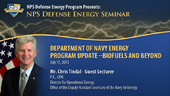 Department of Navy Energy Program Update - Biofuels and Beyond