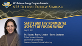Safety and Environmental Aspects of Fusion Energy