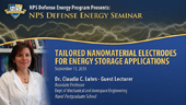 Tailored Nanomaterial Electrodes for Energy Storage Applications