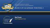 Basics of Academic Writing I