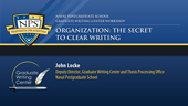 Organization: The Secret to Clear Writing
