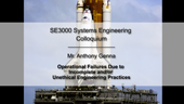 SE3000 Systems Engineering Colloquium