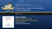 Learning Curves in Project Cost Estimates