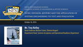 SE3000 Fall AY 15 Systems Engineering Colloquium