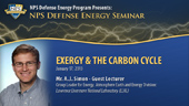 Exergy & The Carbon Cycle