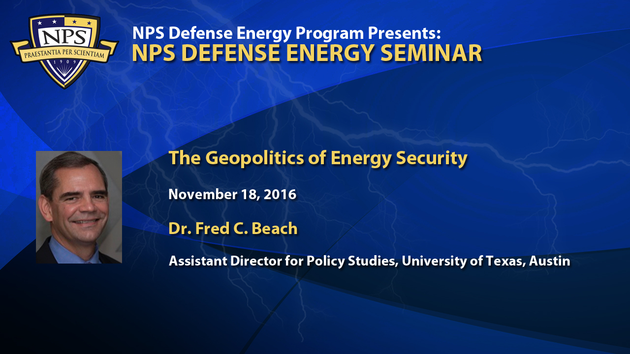 The Geopolitics of Energy Security