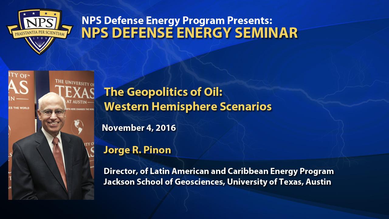 The Geopolitics of Oil: Western Hemisphere Scenarios