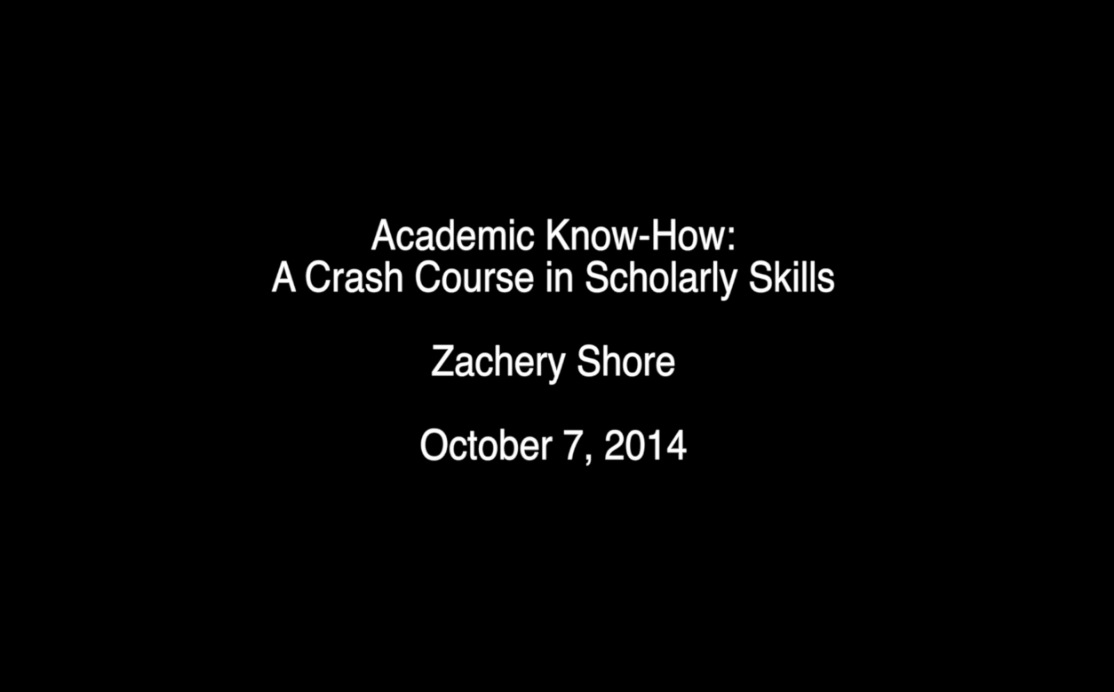 Academic Know-How - A Crash Course in Scholarly Skills