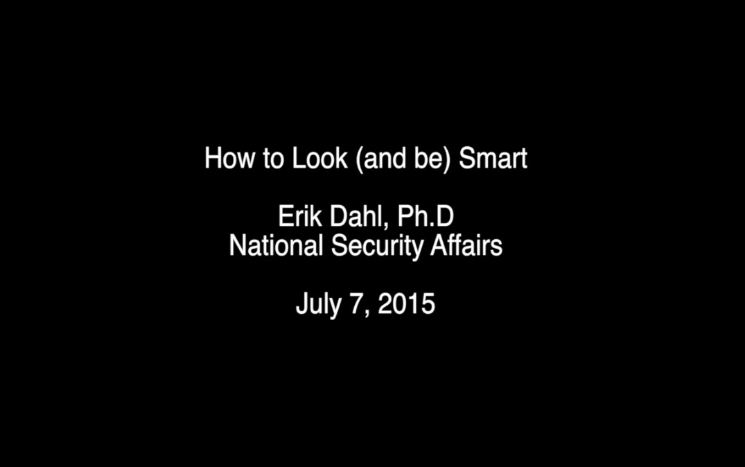 How to Look (and be) Smart