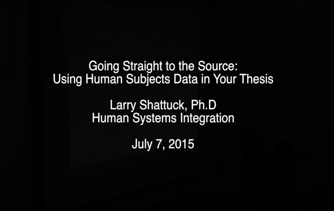Going Straight to the Source: Using Human Subjects Data in Your Thesis