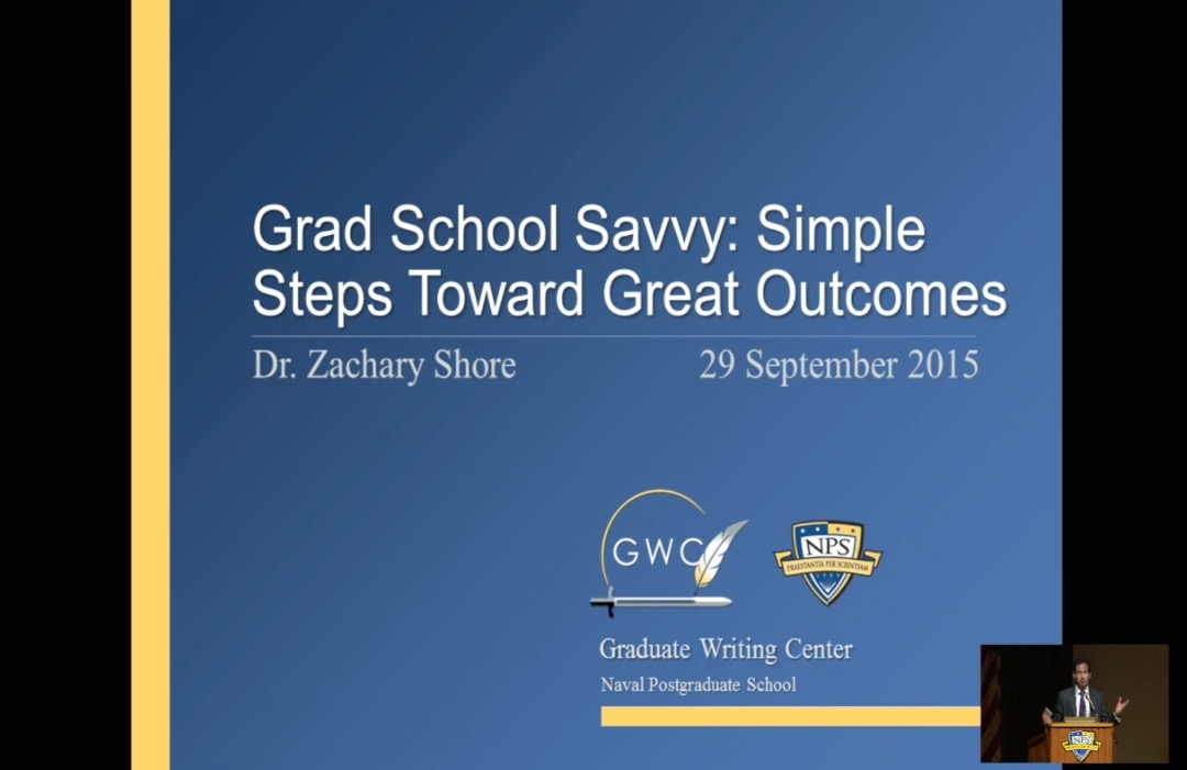 Grad School Savvy: Simple Steps Toward Great Outcomes