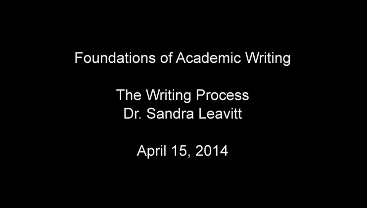 The Writing Process April 2014