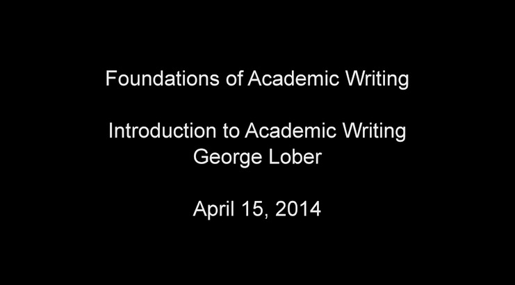 Introduction to Academic Writing April 2014