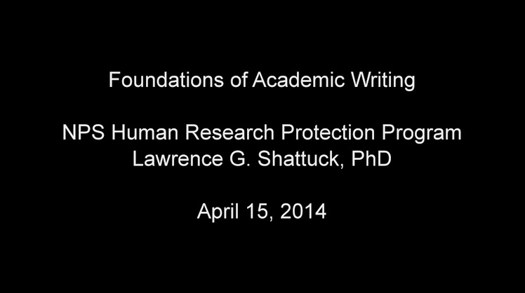 NPS Human Research Protection Program April 2014