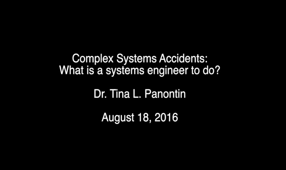 Complex Systems Accidents: What is a systems engineer to do