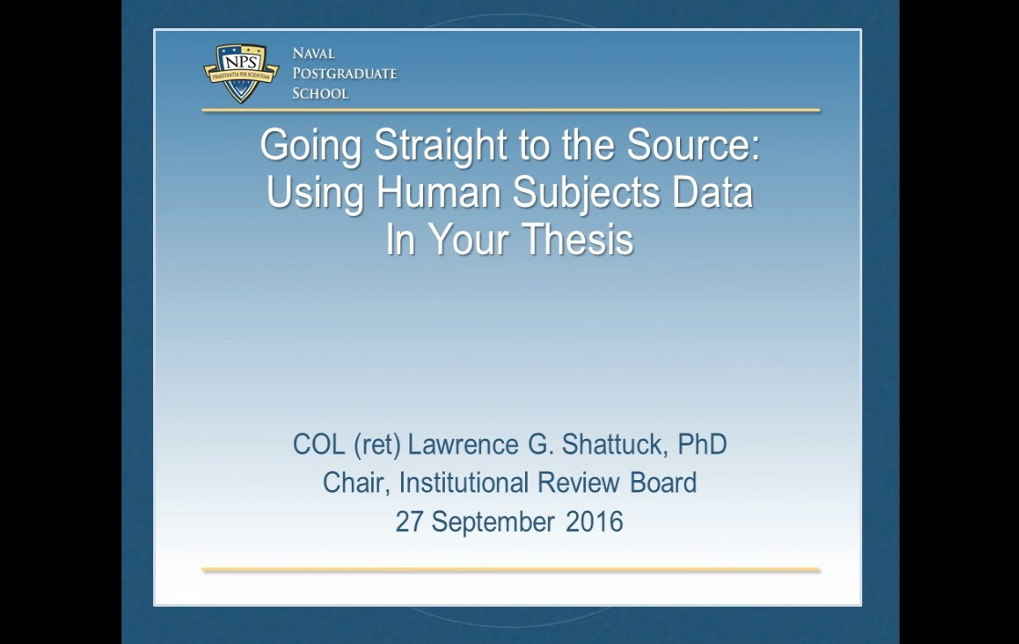 Going Straight to the Source: Using Human Subjects Data in You Thesis