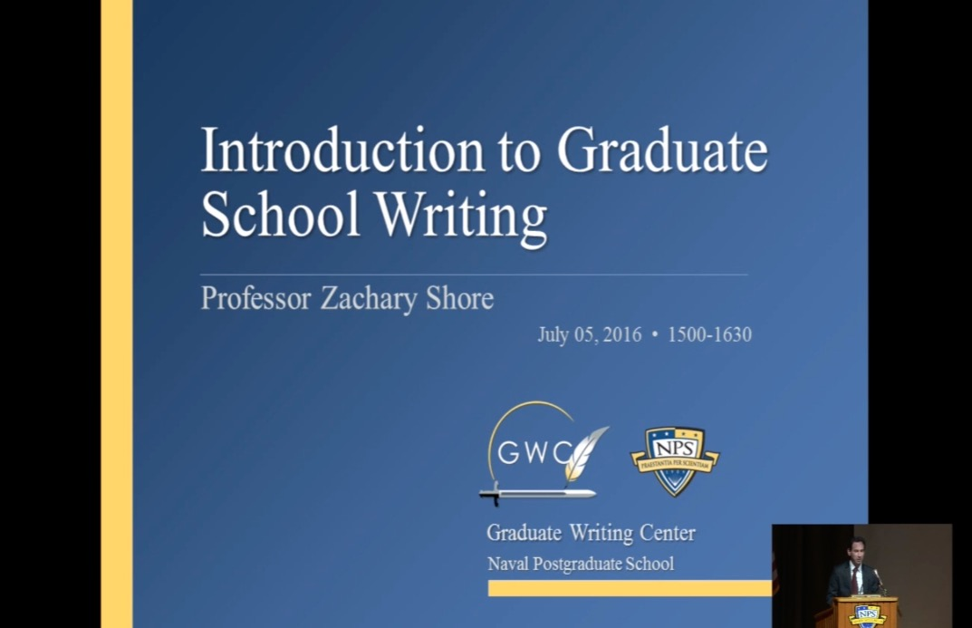 Introduction to Graduate School Writing