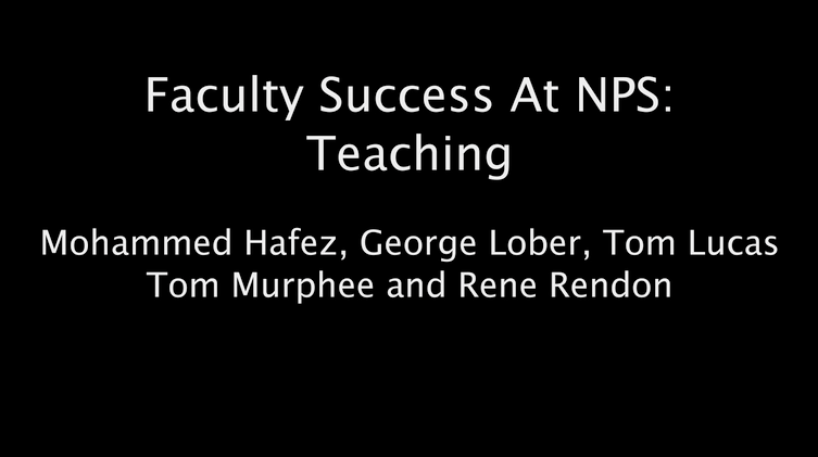 Faculty Success At NPS: Teaching