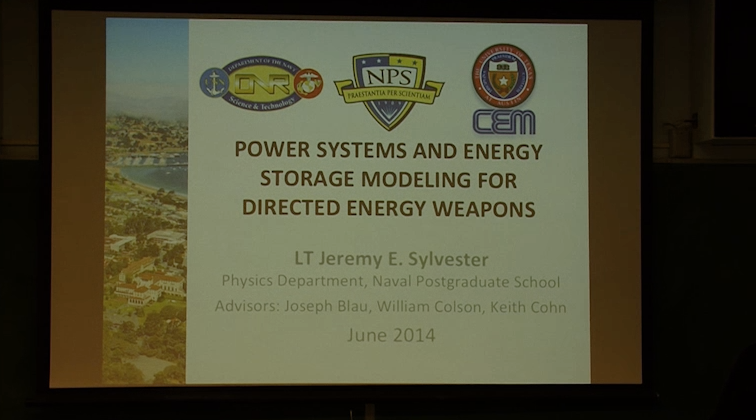 Power Systems and Energy Storage Modeling for Directed Energy Weapons