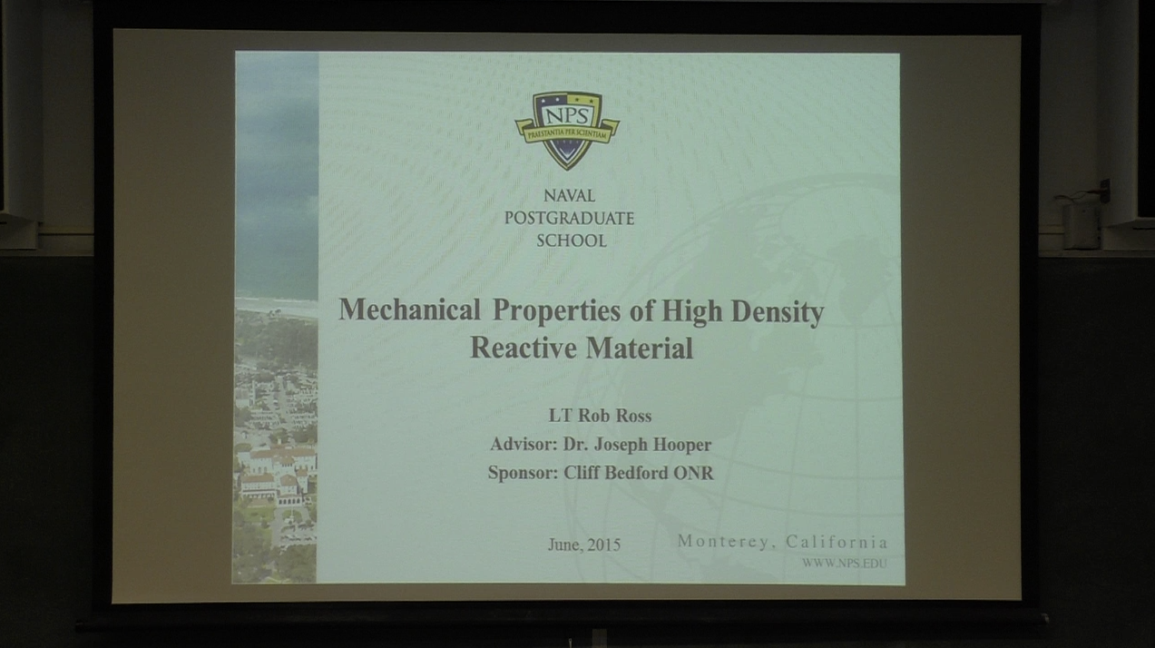 Mechanical Properties Of High Density Reactive Material