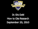 How to Cite Research